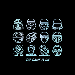 The Game Is On Star Wars Iconic Helmet and Figures from the Movie Tank Top