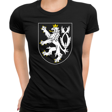 The Coat of Arms of The Czech Republic Political Black T-Shirt