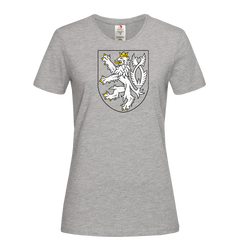 The Coat of Arms of The Czech Republic Political Grey T-Shirt