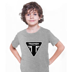 TRIUMPH Union jack motorcycle engine electric car bonneville bike Grey Kids T-Shirt