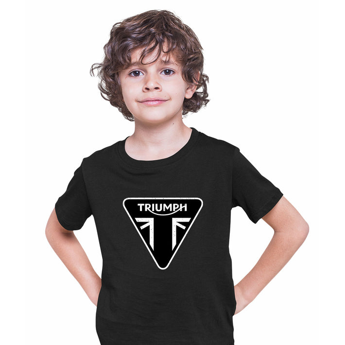 TRIUMPH Union jack motorcycle engine electric car bonneville bike Black Kids T-Shirt