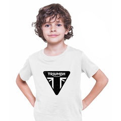 TRIUMPH Union jack motorcycle engine electric car bonneville bike White Kids T-Shirt