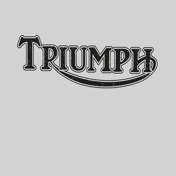 TRIUMPH Women White T-shirt motorcycle