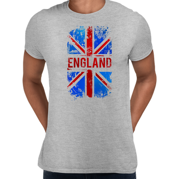 Union Jack Abstract Print Mens White T-Shirt Great Britain Flag