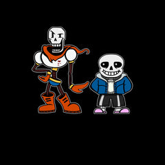 New Kids Undertale Sans Papyrus T-shirt Gaming Boys Girls Christmas Unisex T-shirt Black