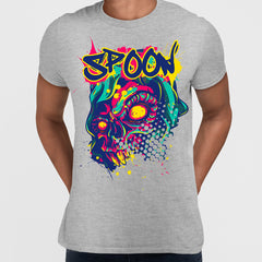 Urban Graffiti Spoon Skull Colorfull illustration T-Shirt
