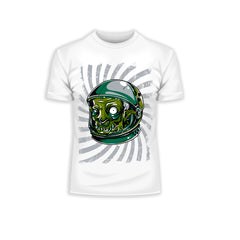 Kuzi Tees Urban Graffiti Zombie Monster Astronaut White