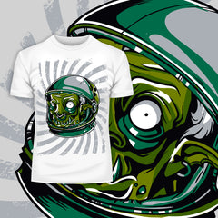 Kuzi Tees Urban Graffiti Zombie Monster Astronaut