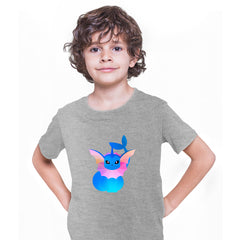 Vaporeon Pokemon Go Grey T-shirt for Kids Boys Girls Brand New