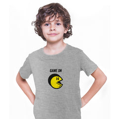 Vintage PACMAN T-SHIRT for Kids Cool Retro 70s 80s Arcade PC Video Games Grey