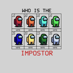 Who is The Impostor Among Us Gamer Funny Gift Tee Top White T-shirt for Women Xmas