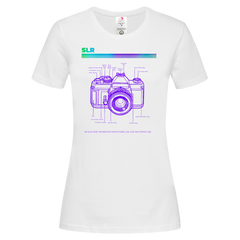 Women's Nikon SLR Old Fashioned Photographer Nostalgia Crew Neck T-Shirt 80 White