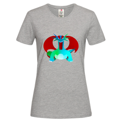 Women's Salamence a dual-type Dragon-Flying legendary Pokémon Eco T-Shirt Collection Grey