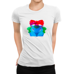 Women's Venusaur Grass-Poison Pokémon Eco T-Shirt Collection Crew Neck White T-shirt