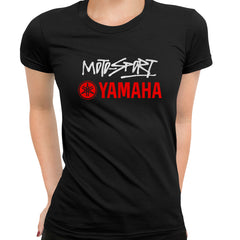 Yamaha Racing Black T-Shirt for Women GP Motorcycle Motorbike Biker Birthday Gift