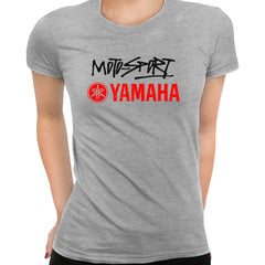 Yamaha Racing Grey T-Shirt for Women GP Motorcycle Motorbike Biker Birthday Gift