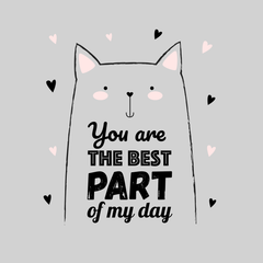 You are the best part of my day Funny Animal Quote White Tank Top