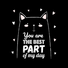 You are the best part of my day Funny Animal Quote Black Tank Top