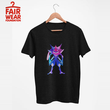 Bad Ass Ash Greninja Dual-Type Water Dark Pokémon Go Generation Six Black Tee