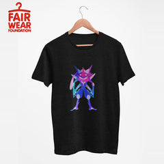 Bad Ass Ash Greninja - Eco Pokemon T-Shirt CollectionBad Ass Ash Greninja Dual-Type Water Dark Pokémon Go Generation Six Black Tee