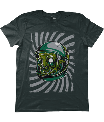 Urban Graffiti Zombie Monster Astronaut Illustration T-Shirt