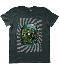 Kuzi Tees Urban Graffiti Zombie Monster Astronaut Black