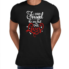 I have found the one that my soul loves Valentines Love T-shirt for men Black Unisex T-Shirt