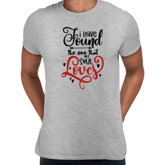 I have found the one that my soul loves Valentines Love T-shirt for men Grey Unisex T-Shirt