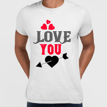 Love you Amor love heart passion & arrow - valentine's day T-shirt edition