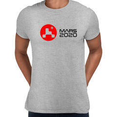 Mars Landing 2021 T-Shirt Space Nasa perseverance Tee Red Planet Unisex Top Grey Unisex T-Shirt