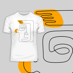 One Line Drawing Abstract Face Kuzi Tees