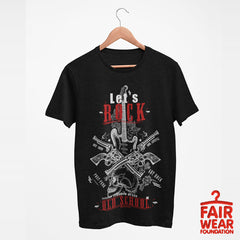 Old Skool Freedom of life Let's Rock Music Hipster T-Shirt