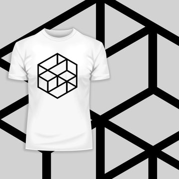 Modern Geometric Elements - Line Dots & Shapes Printed t-shirts Unisex Sample 10