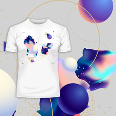 Fluid Masterpiece Unique Abstract & Surreal Crew Neck T-Shirt Design