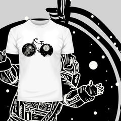 Boundless Universe Melting Abstract T-Shirt Design for all bicycle lovers