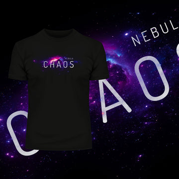 Nebula Chaos Abstract Space T-Shirt composition