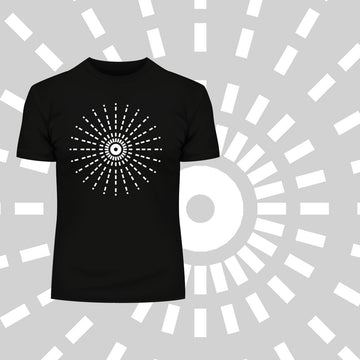 Modern Geometric Elements - Line Dots & Shapes Printed t-shirts Unisex Sample 19