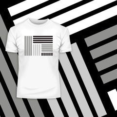 Modern Geometric Elements - Line Dots & Shapes Printed t-shirts Unisex Sample 15