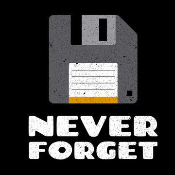 Never Forget PC Floppy Disk - Eco Retro T-Shirt Collection