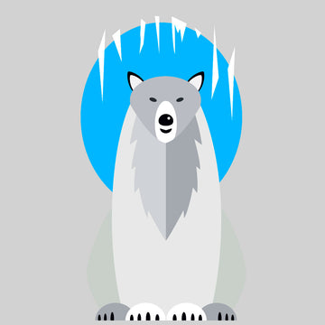 Minimal Polar Bear Ice Cave T-Shirt Design