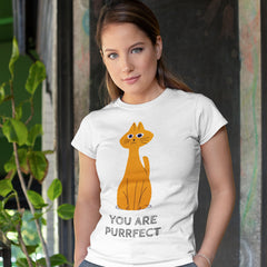 Kuzi Tees 100% Eco T-shirt - You Are Purrfect Cat
