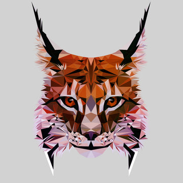 Low Poly Triangular Lynx Head Polygonal Trendy Style