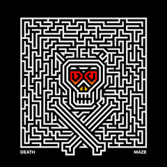 Halloween - Death Maze Male Female Unisex Black & White T-shirt