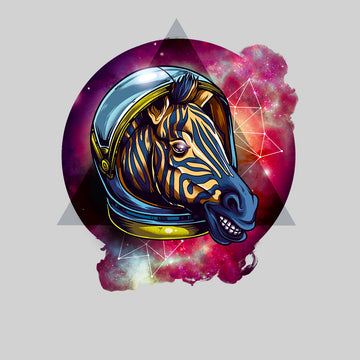 Awesome Cosmic Zebra - T-shirt with an Attitude