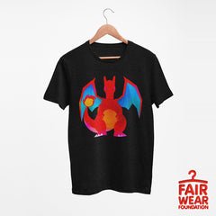 Charizard  Dual-Type Fire Flying Pokemon Go Generation One Black Tee