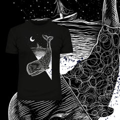 Old Skool Tee Whale double exposure surreal & Abstract T-shirt