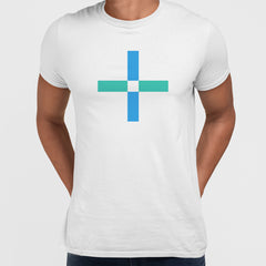 Modern Geometric Elements - Line Dots & Shapes Printed t-shirts Unisex Sample 11