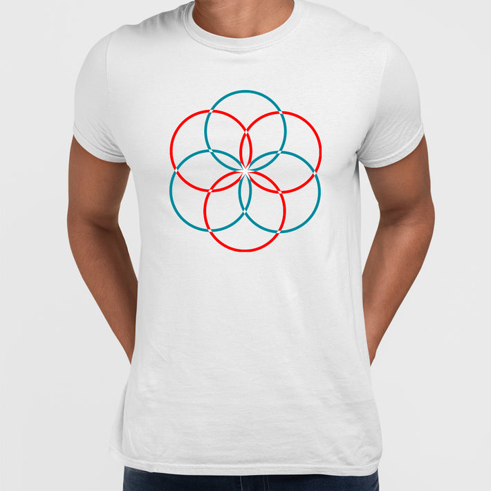 Modern Geometric Elements - Line Dots & Shapes Printed t-shirts Unisex Sample 13