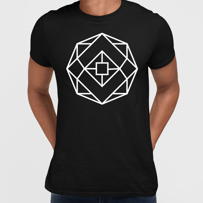 Modern Geometric Elements - Line Dots & Shapes Printed t-shirts Unisex Sample 21