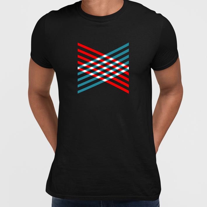 Modern Geometric Elements - Line Dots & Shapes Printed t-shirts Unisex Sample 01